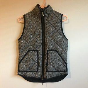 J Crew Herringbone Quilted Vest